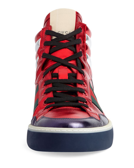 More Leather High-Top Sneaker