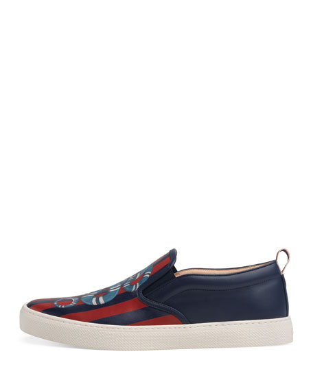 Kingsnake Print Slip-On Sneaker