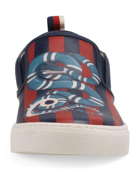 Dublin King Snake Leather Slip-On Sneaker