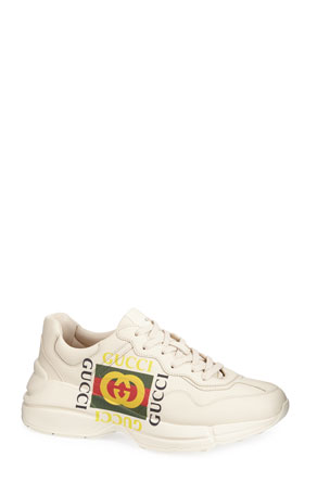 Gucci Gucci Logo Leather Sneaker