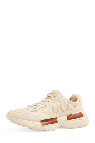 Gucci Gucci Logo Leather Sneaker