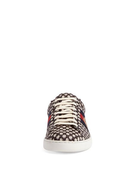 Men's New Ace Jacquard Sneakers with Bee