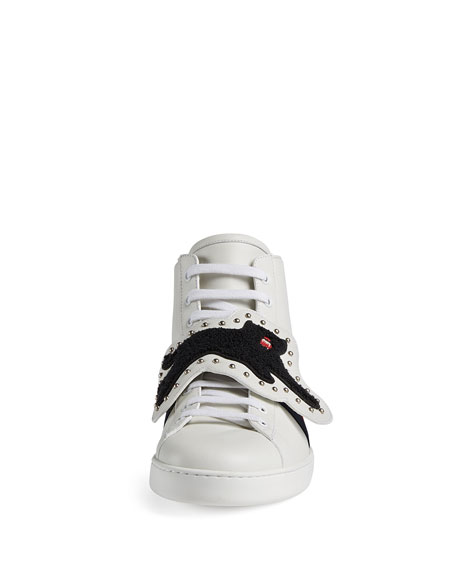 New Ace High-Top Sneaker with Removable Embroideries