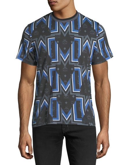 MCM Gunta M Visetos Logo Graphic T-Shirt