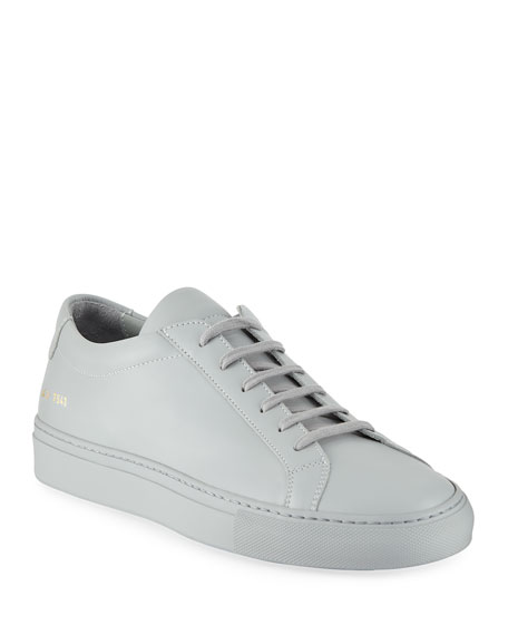 Common Projects Men's Achilles Leather Low-Top, Gray and
