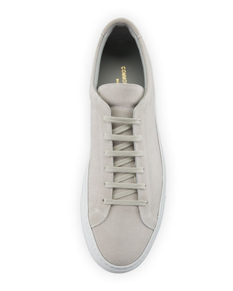 Men's Achilles Suede Low-Top Sneakers, Gray