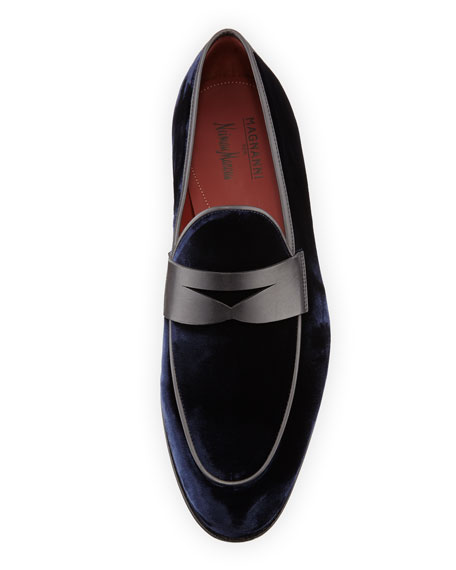 Velvet Formal Penny Loafer, Navy