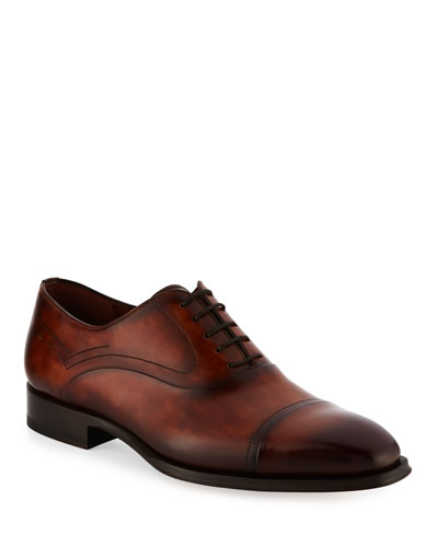 Cap-Toe Leather Oxford Shoe