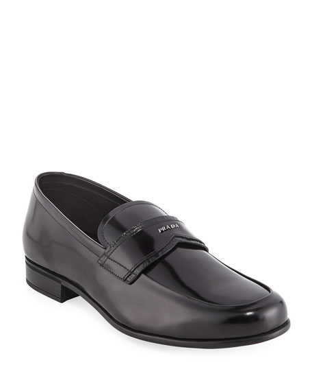 Prada Spazzolato Leather Loafer