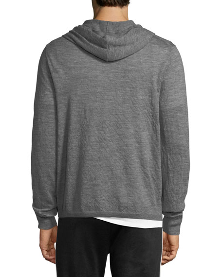 Hooded Wool Pullover Sweater