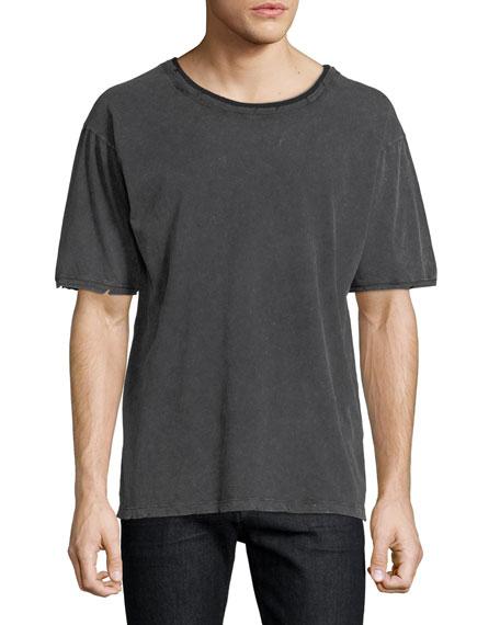 Distressed Cotton T-Shirt