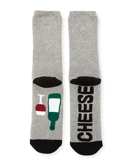 Wine and Cheese Socks