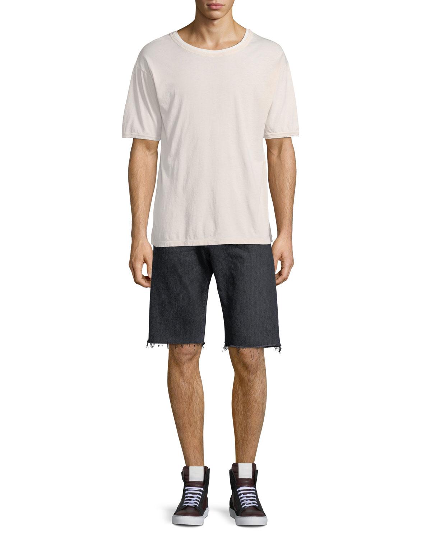 e82863fdefa Saint Laurent Raw-Edge Bermuda Shorts | Neiman Marcus