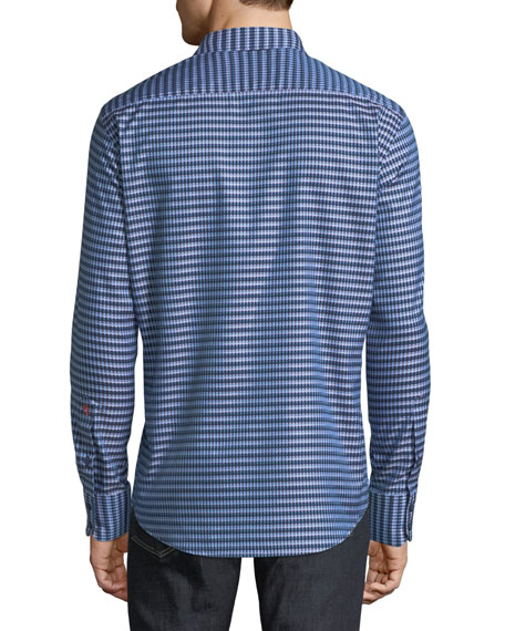 Hill Punch Gingham Sport Shirt