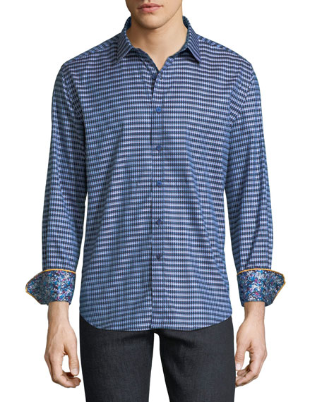 Robert Graham Hill Punch Gingham Sport Shirt