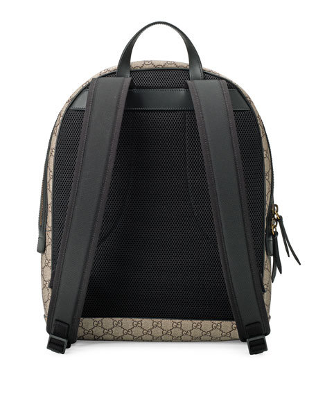 Snake-Print GG Supreme Backpack