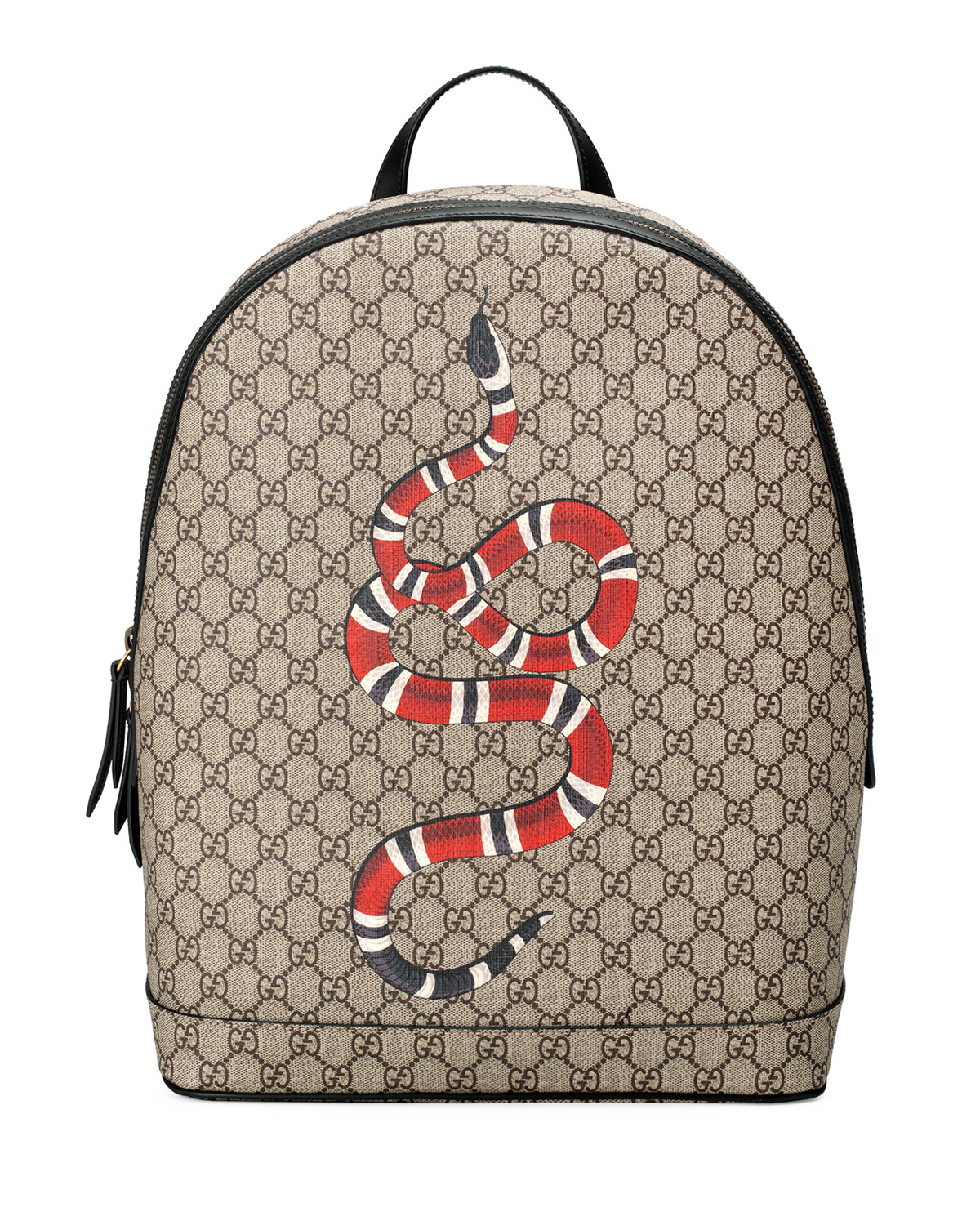 4fc2be643 Gucci Snake-Print GG Supreme Backpack | Neiman Marcus