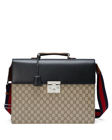 GG Supreme Canvas Briefcase