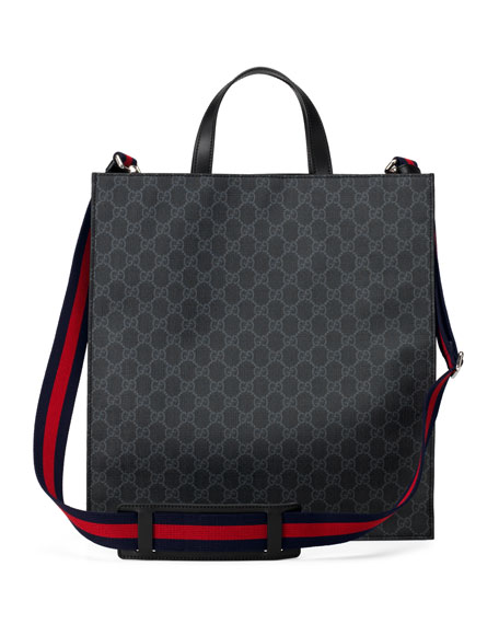 Men's GG Supreme Tote Bag with Patches