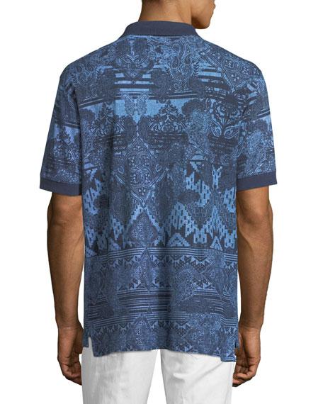 Koppen Paisley-Print Polo Shirt