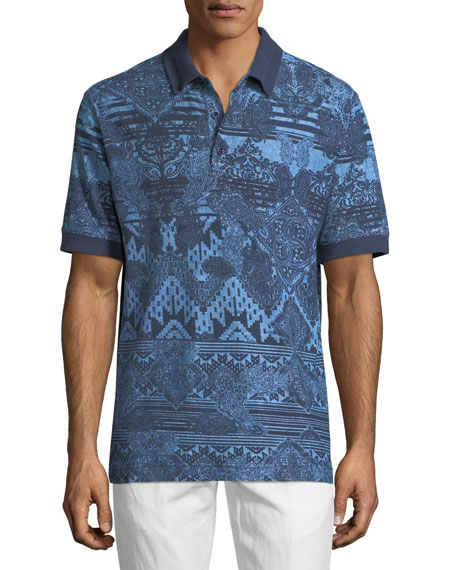 Robert Graham Koppen Paisley-Print Polo Shirt