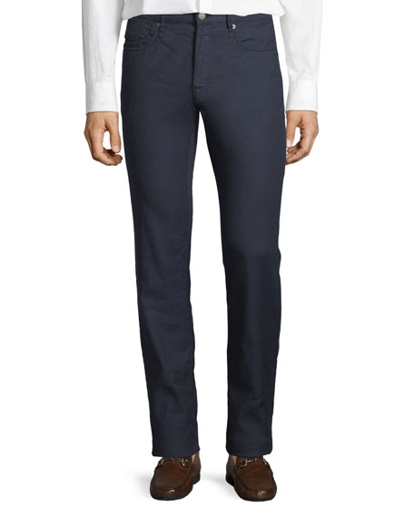 Incotex 5-Pocket Chino Flat-Front Trousers