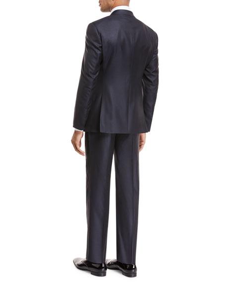 Peak-Lapel Jacquard Slim Tuxedo