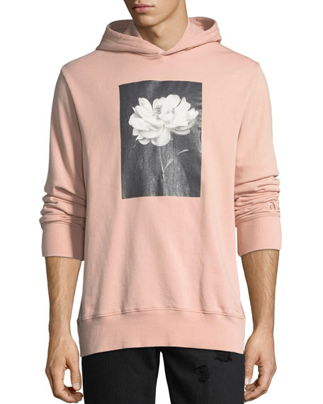 Floral Photo Cotton Hoodie