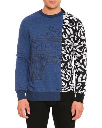 Teatro Versace Printed Sweater