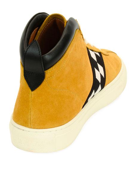 Men's Vita Retro High-Top Sneakers, Yellow