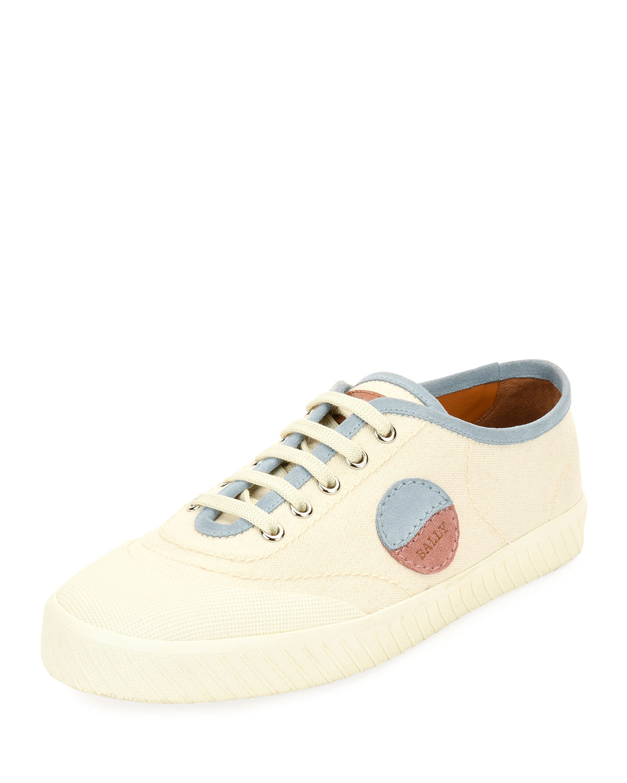 Bally Men S Silo Retro Low Top Canvas Sneakers Neiman Marcus