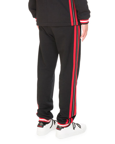 Cotton Contrast-Stripe Jogger Pants