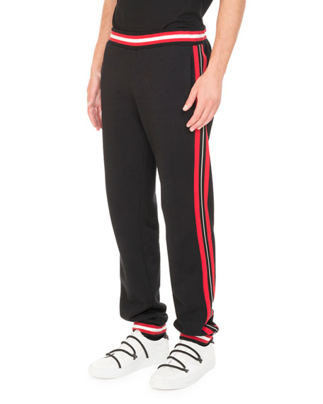 Givenchy Cotton Contrast-Stripe Jogger Pants