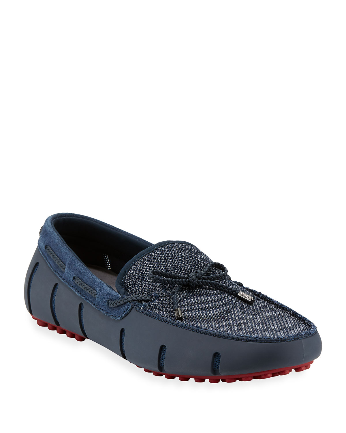 818c6abf719 Swims Mesh   Rubber Braided-Lace Boat Shoe