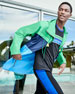 Image 2 of 4: Colorblock Cotton Parka