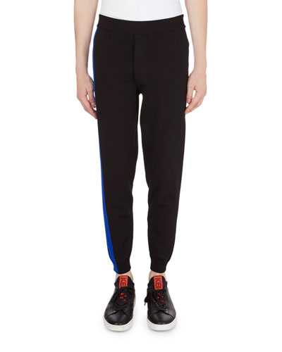 Colorblock Cycling Knit Pants