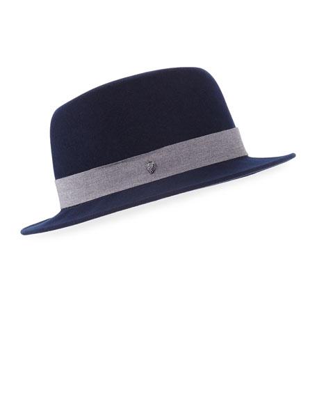 Kaminski Hats XY Brock Wool Felt Fedora Hat