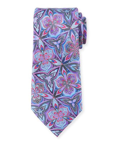 Ermenegildo Zegna Venticinque Floral Silk Tie