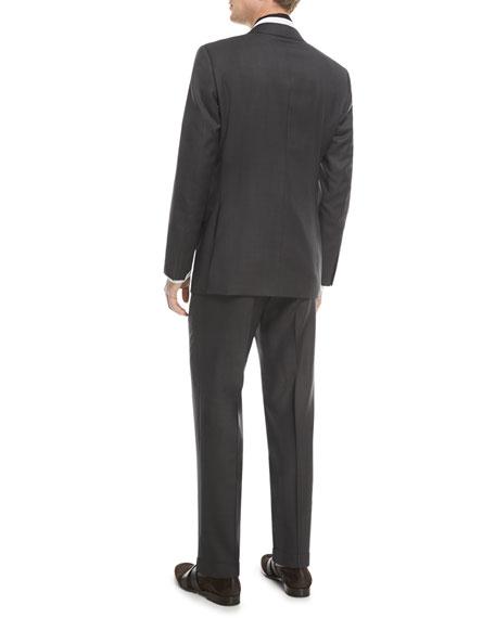 Ermenegildo Zegna Textured Solid Wool Two-Piece Suit