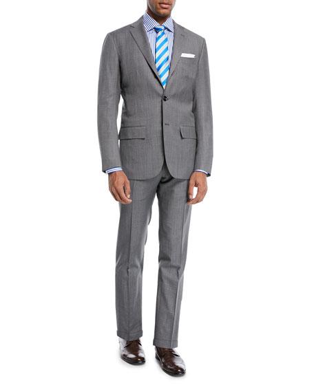 Kiton Super 160s Wool Sharkskin Two-Piece Suit