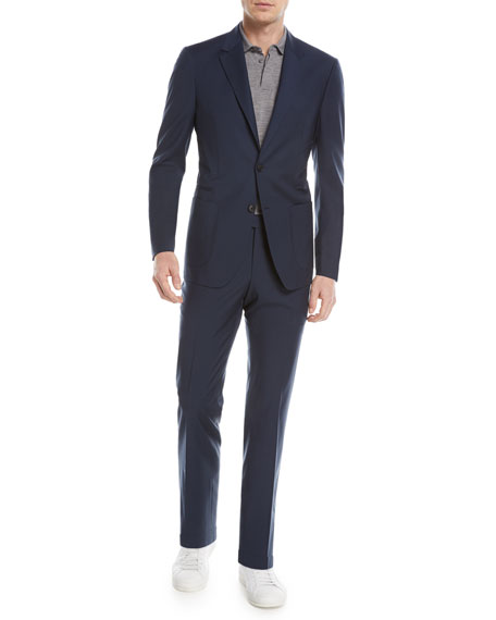 Image 2 of 4: Wash-and-Go Two-Piece Wool Suit