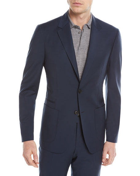 Image 1 of 4: Wash-and-Go Two-Piece Wool Suit