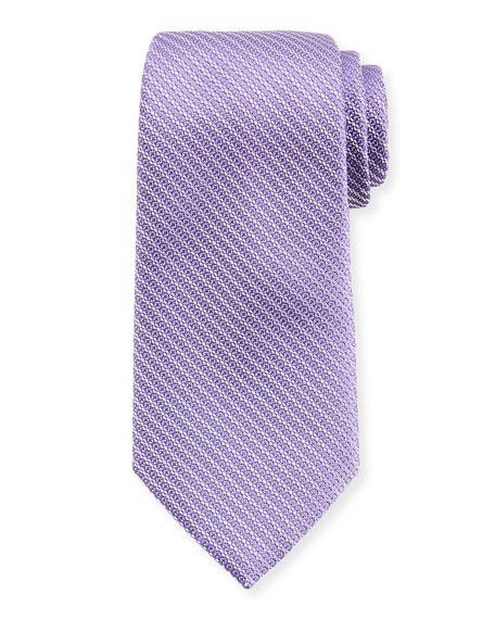 Ermenegildo Zegna Diagonal Chain Silk Tie