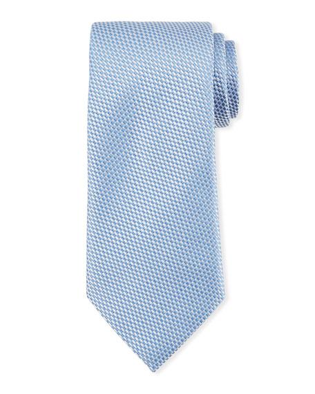 Ermenegildo Zegna Tonal Checked Silk Tie