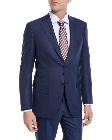 Brioni Solid Box-Weave Wool Two-Piece Suit