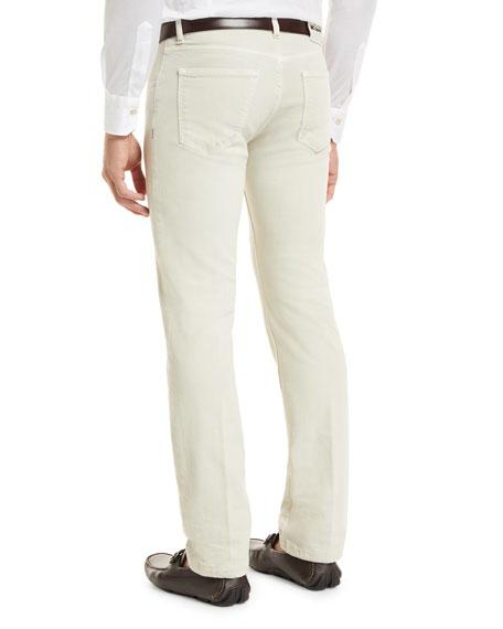 Kiton Denim Five-Pocket Jeans, Tan