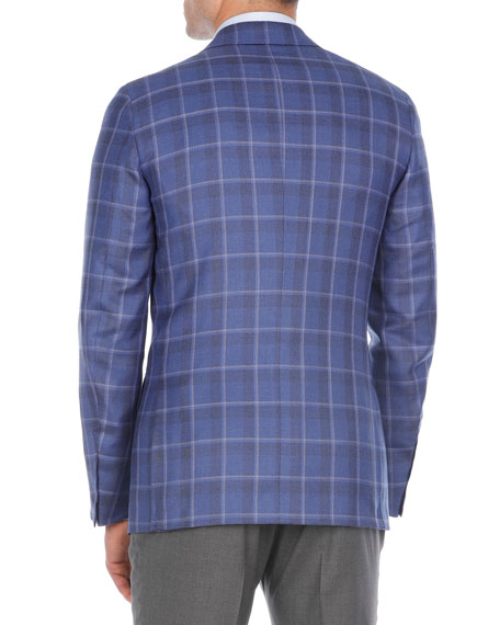 Plaid Cashmere-Blend Sport Coat