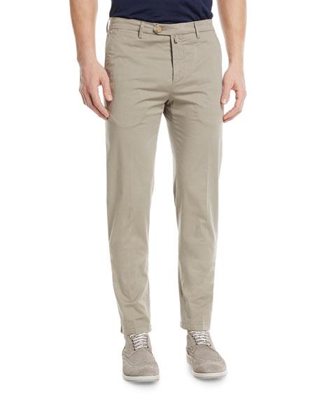 Kiton Straight-Leg Twill Pants