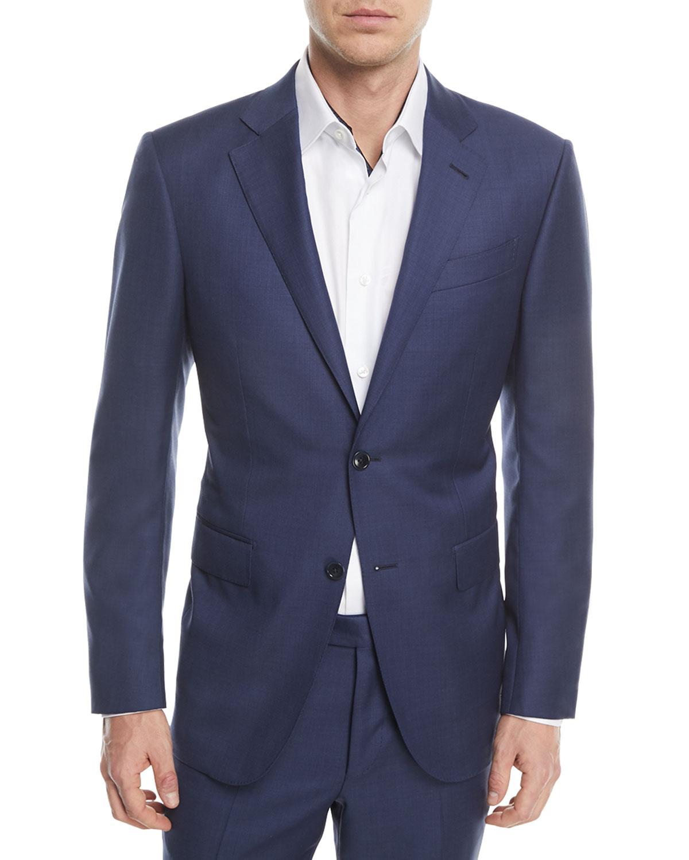 4655f496a49aaf Ermenegildo Zegna Textured Solid Wool Two-Piece Suit | Neiman Marcus
