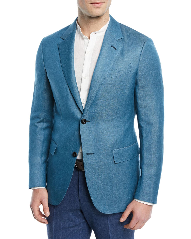 3d0cb33a Textured Cashmere-Linen Blazer